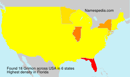 Surname Grimon in USA
