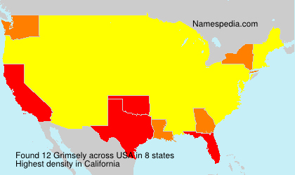 Surname Grimsely in USA