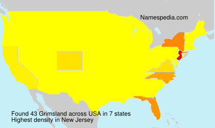 Surname Grimsland in USA