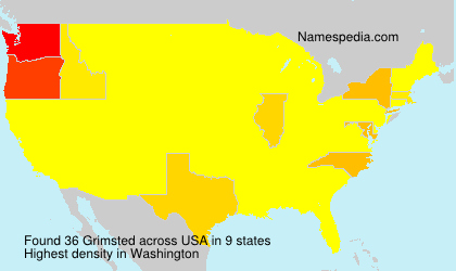 Surname Grimsted in USA