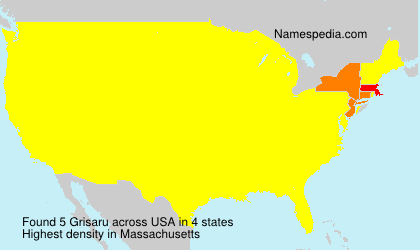 Surname Grisaru in USA