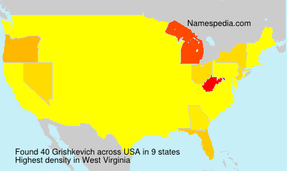 Surname Grishkevich in USA