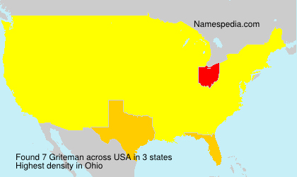 Surname Griteman in USA