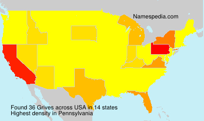 Surname Grives in USA