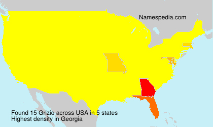 Surname Grizio in USA