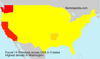Surname Grmolyes in USA