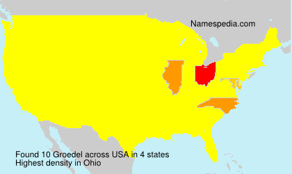 Surname Groedel in USA