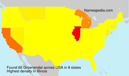 Surname Groenendal in USA