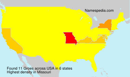 Surname Groes in USA