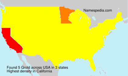 Surname Grold in USA