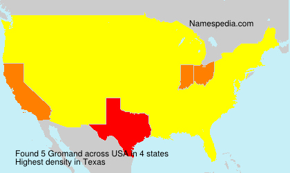 Surname Gromand in USA