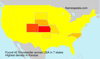 Surname Gronewoller in USA