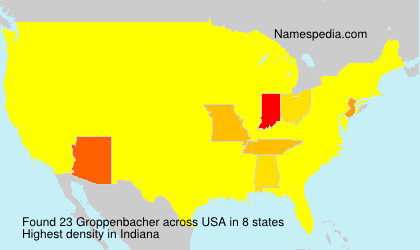 Surname Groppenbacher in USA