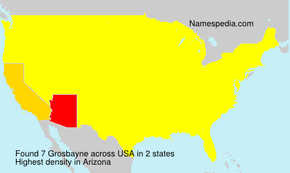 Surname Grosbayne in USA
