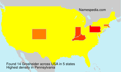 Surname Grosheider in USA