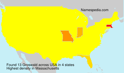Surname Groswald in USA