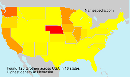Surname Grothen in USA