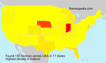 Surname Grotrian in USA