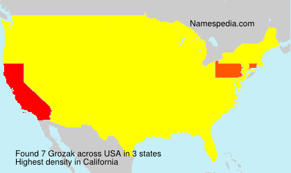 Surname Grozak in USA