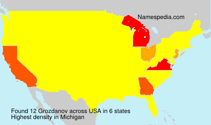 Surname Grozdanov in USA