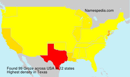 Surname Groze in USA