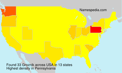 Surname Groznik in USA