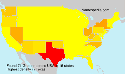 Surname Grudier in USA