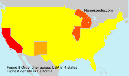Surname Gruendner in USA