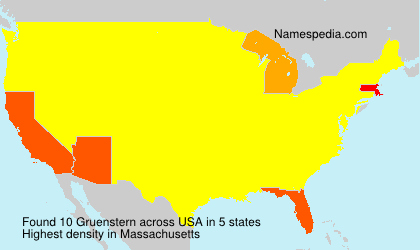 Surname Gruenstern in USA