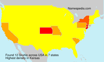 Surname Gruhle in USA