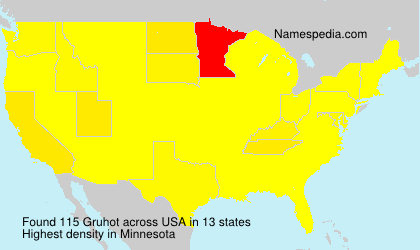 Surname Gruhot in USA
