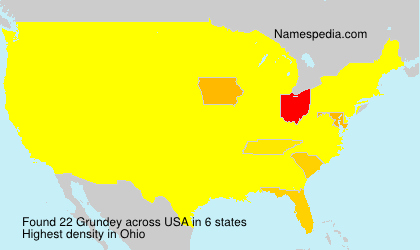 Surname Grundey in USA