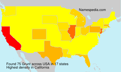 Surname Grunt in USA