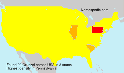 Surname Grunzel in USA
