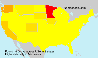 Surname Gruye in USA