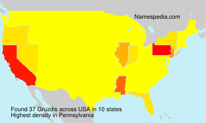 Surname Gruzdis in USA