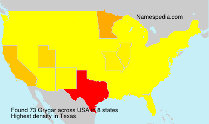 Surname Grygar in USA
