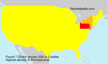 Surname Grykin in USA