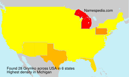 Surname Grymko in USA