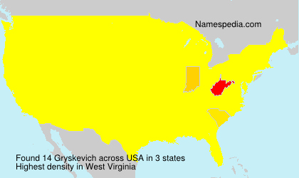 Surname Gryskevich in USA