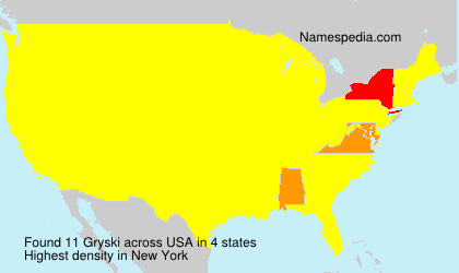 Surname Gryski in USA