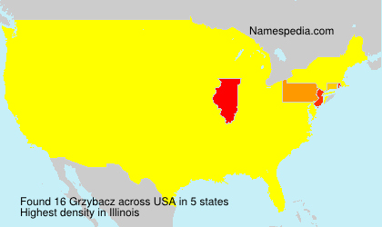 Surname Grzybacz in USA