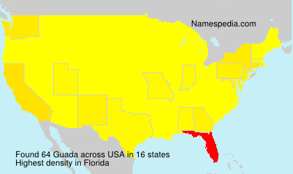 Surname Guada in USA