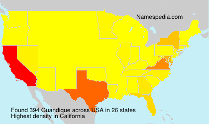 Surname Guandique in USA