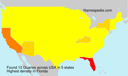 Surname Guanes in USA