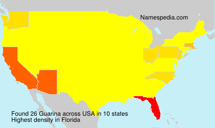 Surname Guarina in USA