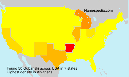 Surname Gubanski in USA