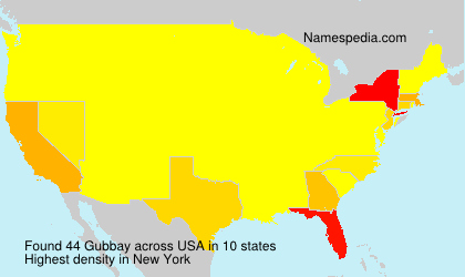 Surname Gubbay in USA