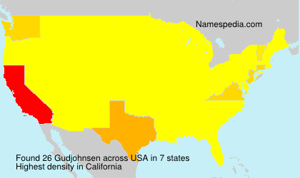 Surname Gudjohnsen in USA