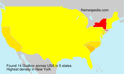 Surname Gudkov in USA